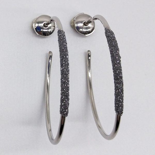 Boucles d'oreilles poudre de diamants