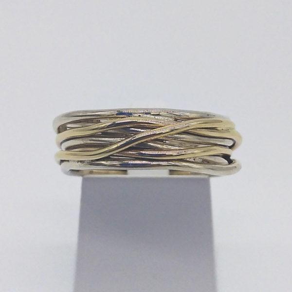 Bague argent et or jaune