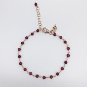 Bracelet agathes rouges