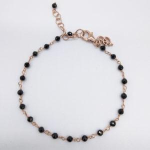 Bracelet agathes noires