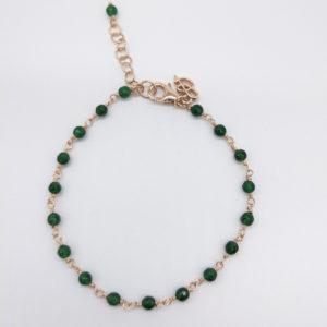 Bracelet agathes vertes