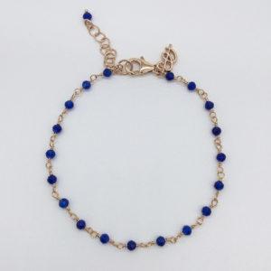 Bracelet agathes bleues