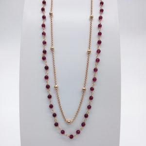 Collier agathes rouges
