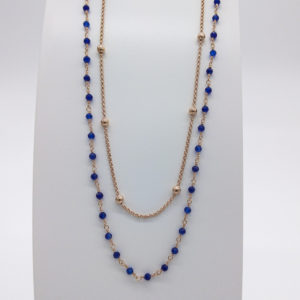 Collier agathes bleues