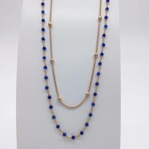 Collier agathes bleues