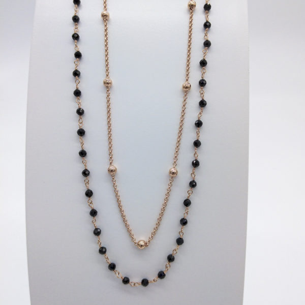 Collier agathes noires